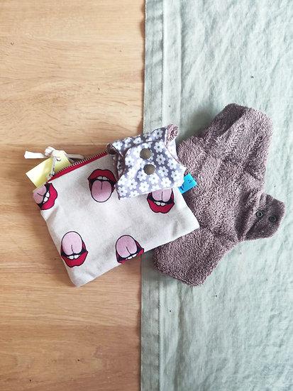 Lot de serviettes hygieniques lavables - tailleM