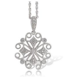 Diamond Filigree Pendant
