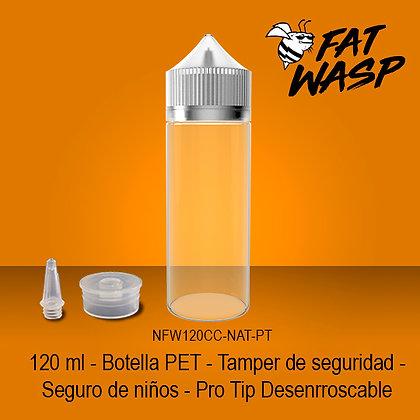 Fat Wasp 120 ml (Transparente tapa Blanca)