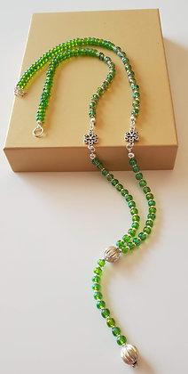 שרשרת- פרח ירוק