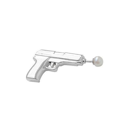 Gun 'N Pearl Earring