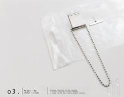 Price Tag Triple Earring
