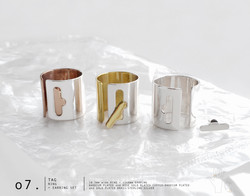 Tag Ring + Earring Set