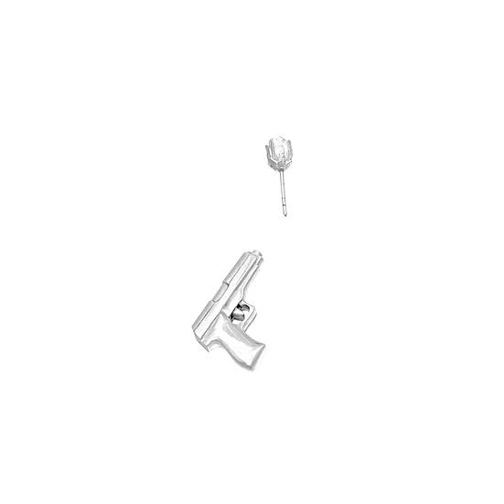 Gun 'N Rose Earring