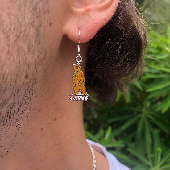 Banff Bear Earring