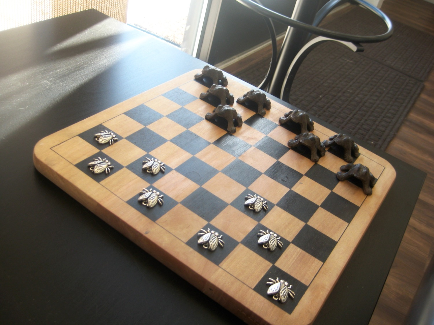 Checkers in lobby