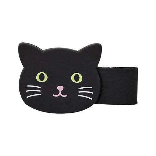 Магнитная клипса-зажим - Черный котик