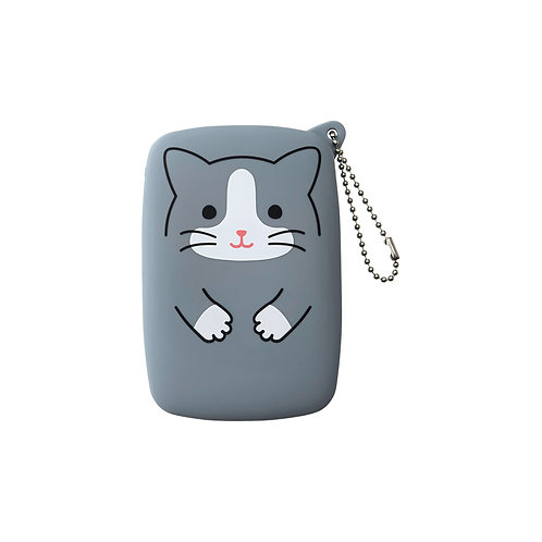 Ключница компакт - Серый котик