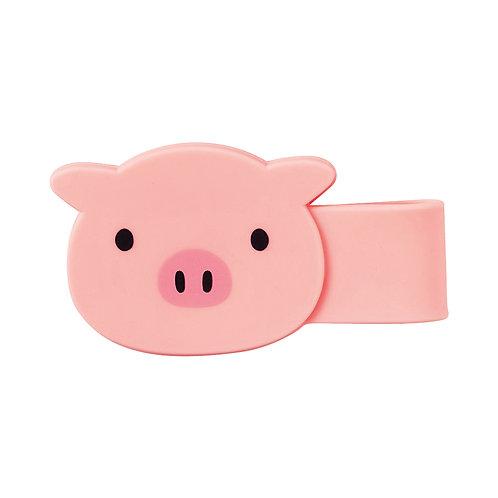 Магнитная клипса-зажим - Свинка