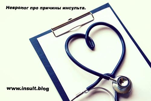 Инсульт Блог. Причины инсульта.
