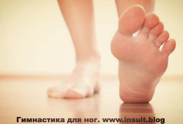 Инсульт Блог. Гимнастика для ног.