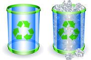 recycling paper bins