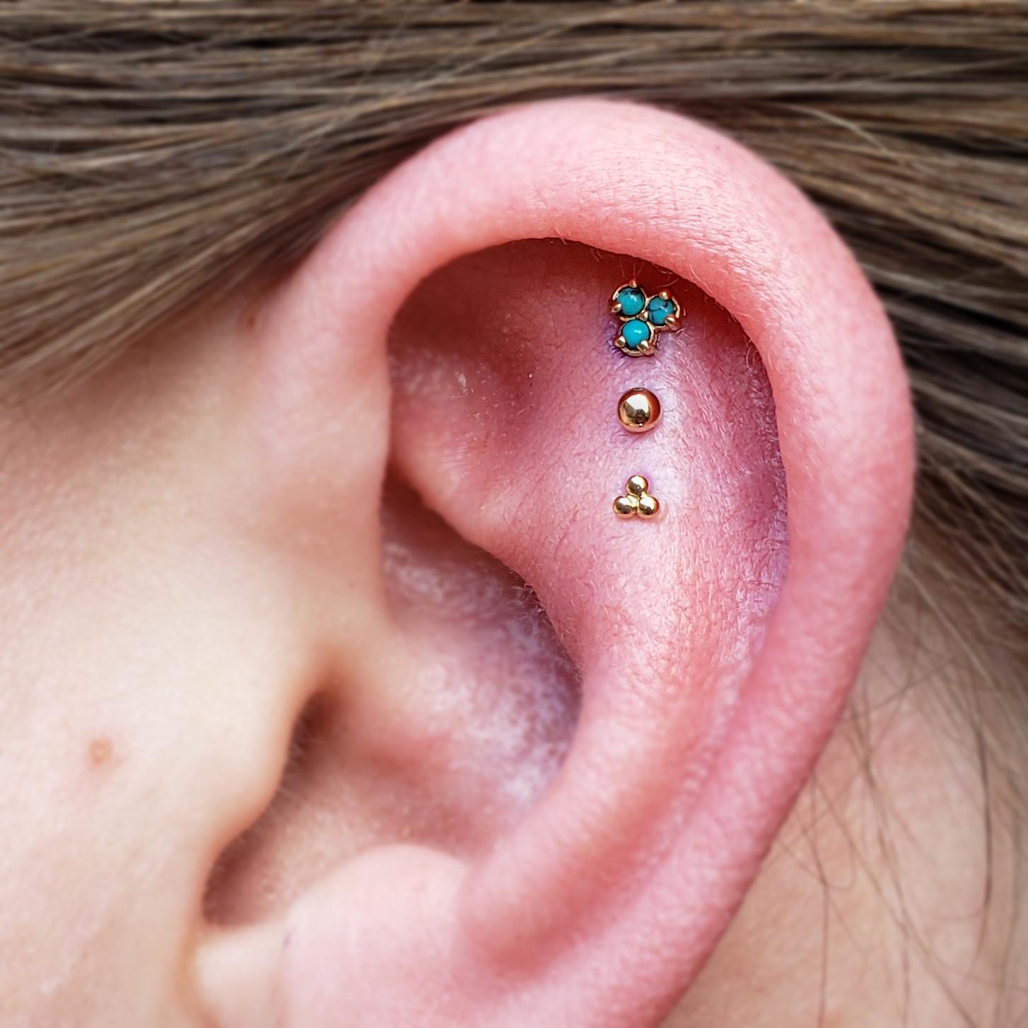 Three Piercings: Ear, Face, or Body