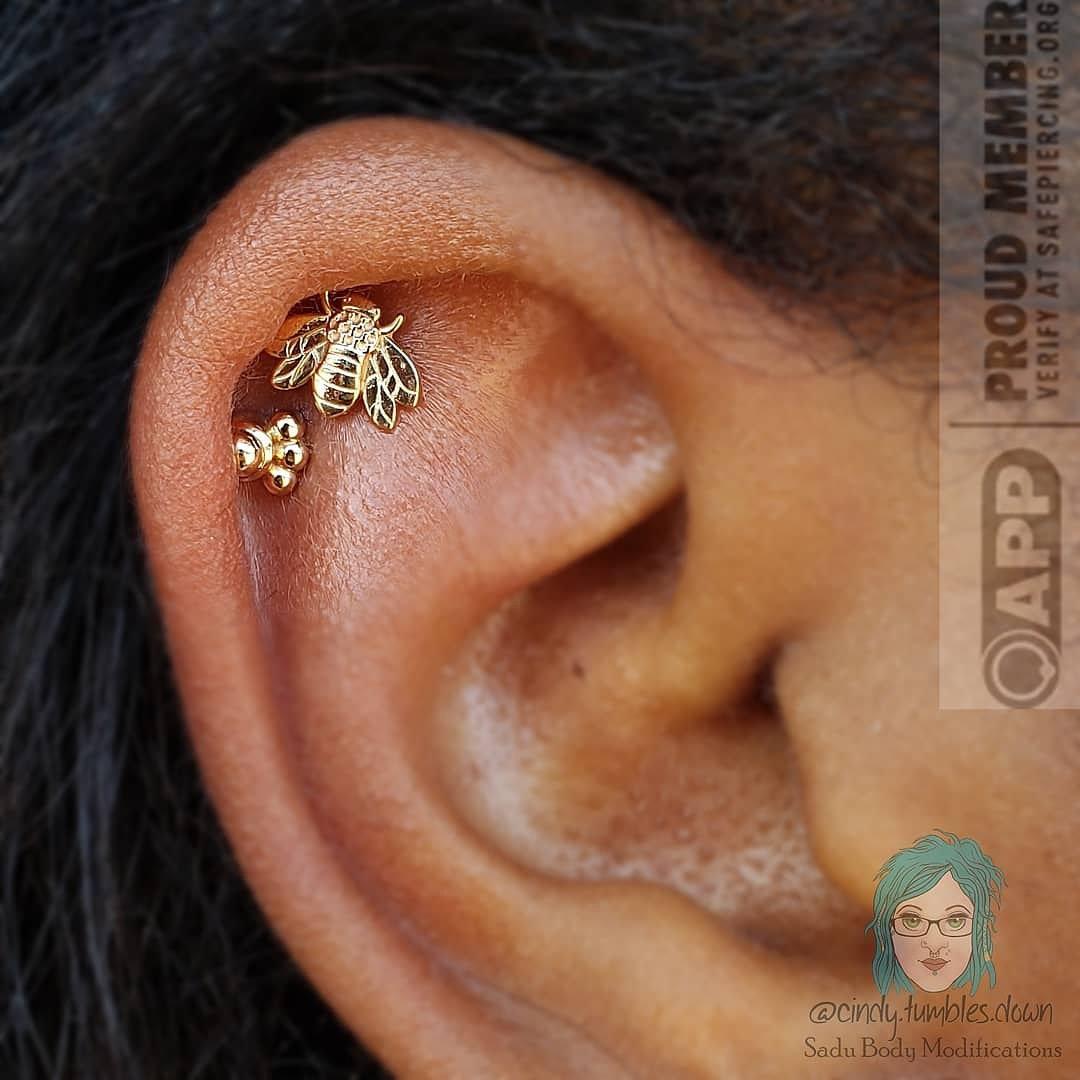 Two Piercings: Ear, Face, or Body
