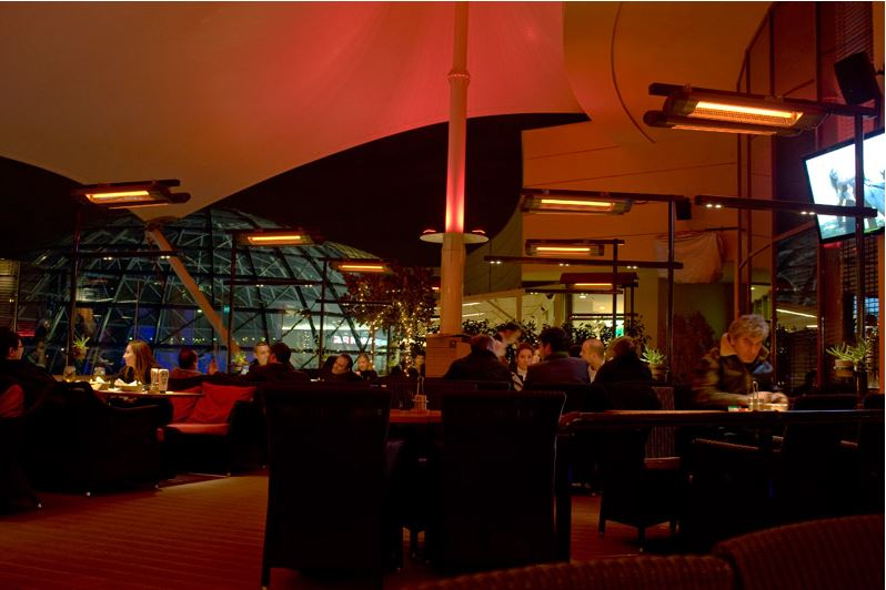 Infrared heaters for restaurants