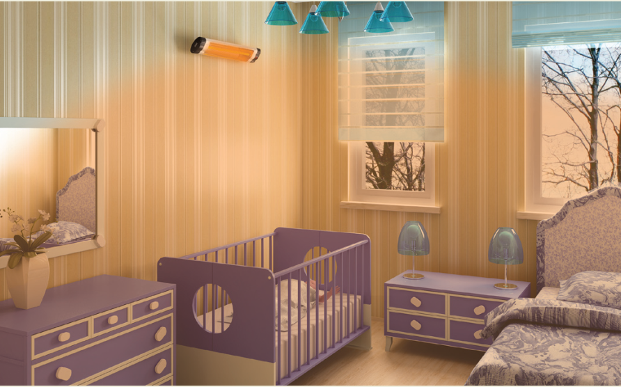 Infrared heaters for kids room