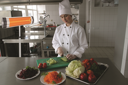 Infrared heaters for kitchens
