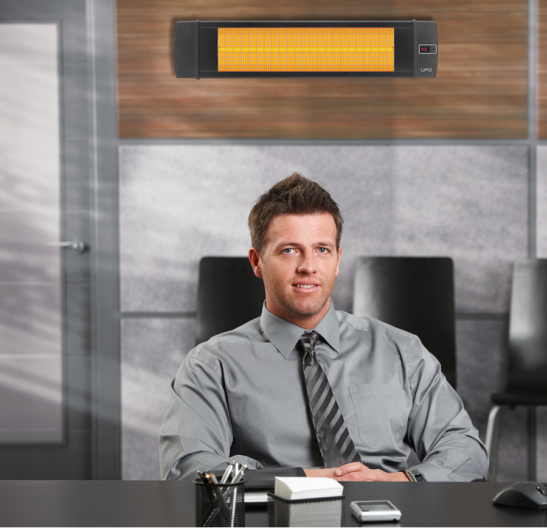 Infrared heaters for office