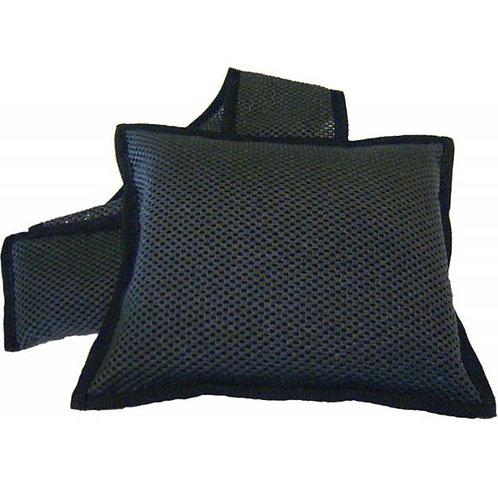 Nackenkissen schwarz mit Lavasteinen