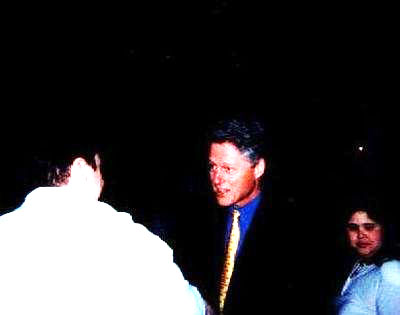 Meeting President Bill Clinton