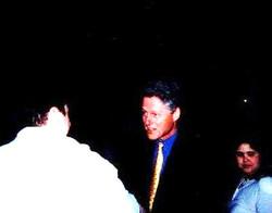 Meeting President Bill Clinton