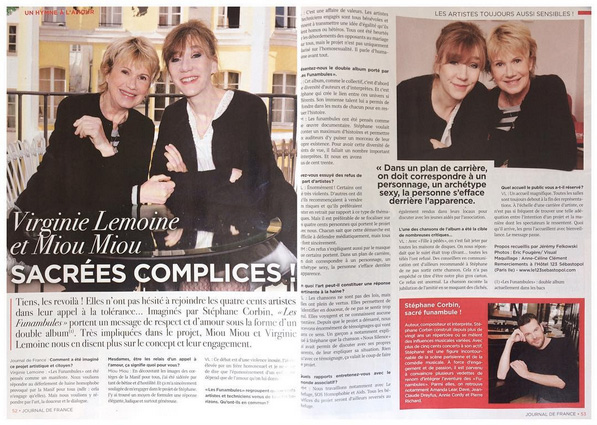 Miou-Miou & Virginie Lemoine - Journal de France