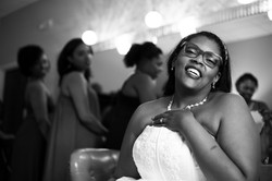 Happy bride at wedding in Asheville NC wedding photography