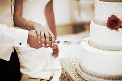 wedding cake at a wedding in Columbia South Carolina