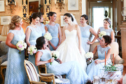 Bride and Bridesmaids at a gorgeous wedding venue in South Carolina