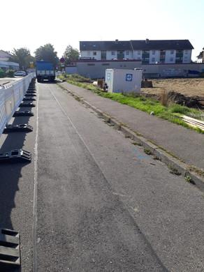 Halbseitige Sperrung der Feldbergstraße