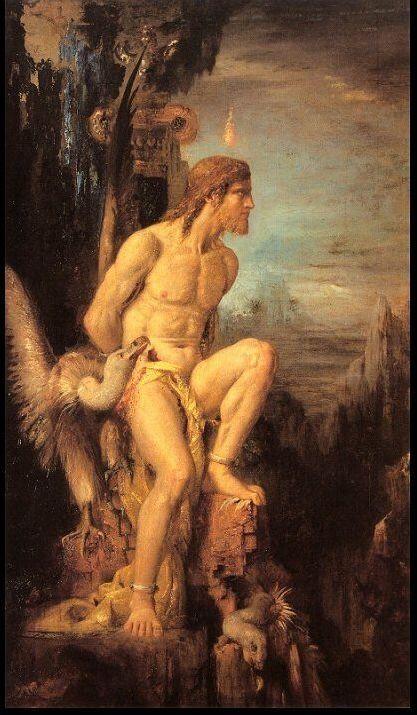 Gustave Moreau, Prometheus (1968, coll. priv.)