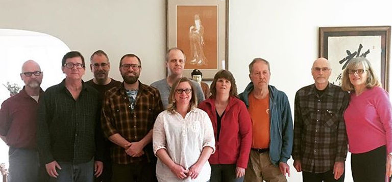 A lovely and productive Sunday visit from the Empty Circle #Zen group of #Hobart, Indiana.jpg