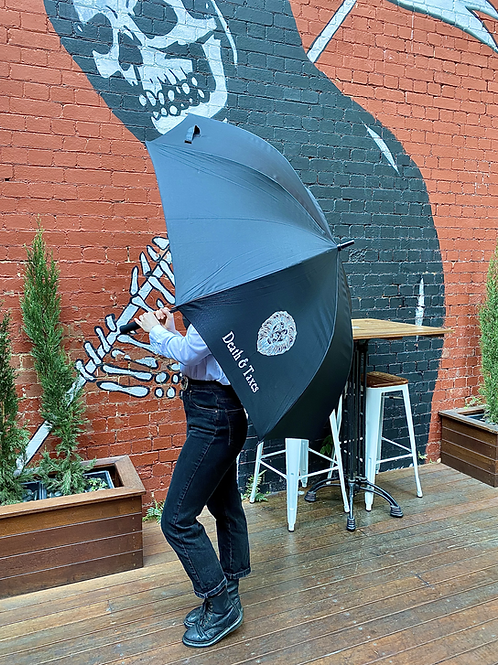 Death & Taxes Large Umbrella (pick up only)