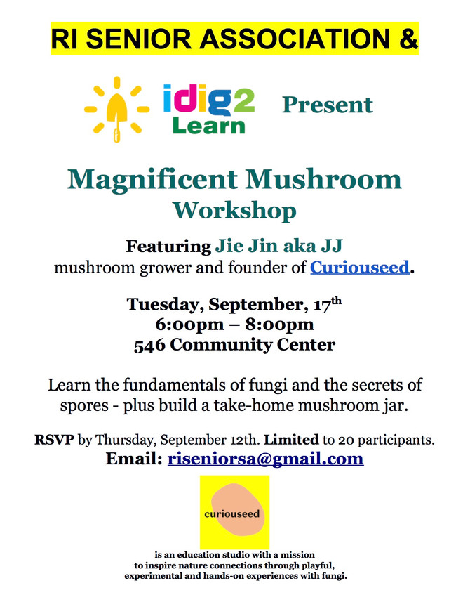 9/17/19 Magnificent Mushroom Workshop