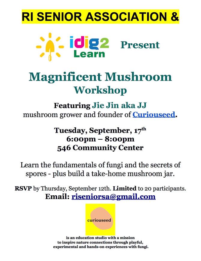 9/17/19 Magnificent Mushroom Workshop