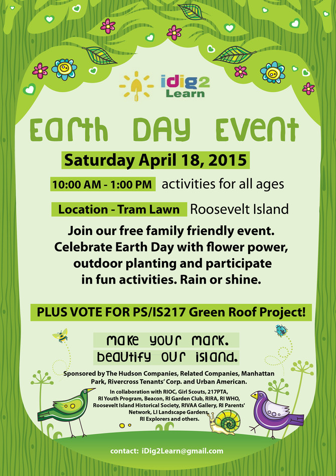 Earth Day Event - Saturday April 18th