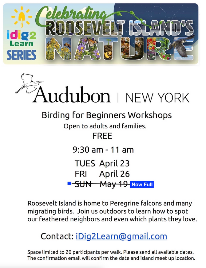 iDig2Learn welcomes Audubon New York