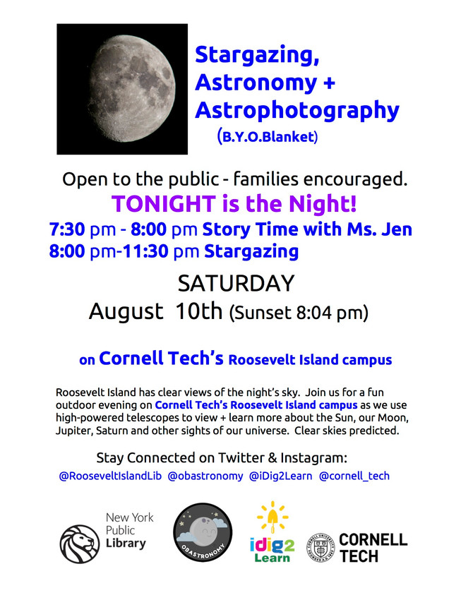 Stargazing is back! Tonight Only! Aug 10th