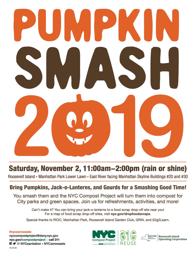 11/2 SAT 11am - 2pm - Pumpkin Smash