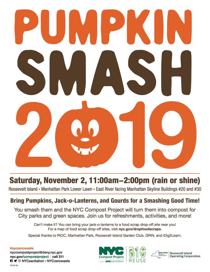 11/2 SAT 11am - 2pm - Pumpkin Smash