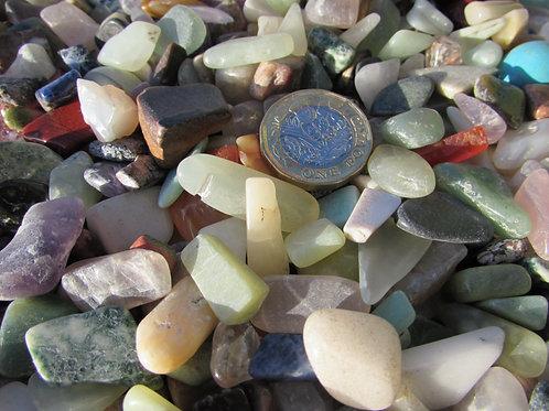 Crystal chips low grade mix 1kg bag 10- 15mm