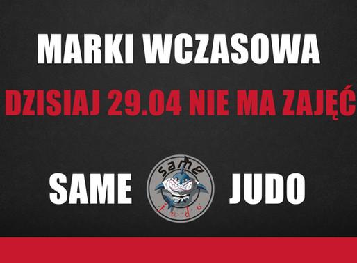 MARKI WCZASOWA - 29.04 ZAJĘCIA ODWOŁANE