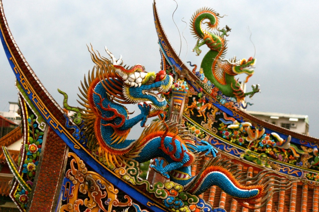 Taoist Temple Dragons Taiwan