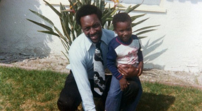 J.Michael as a young boy with his beloved father (Dr. James M. O'Neal).