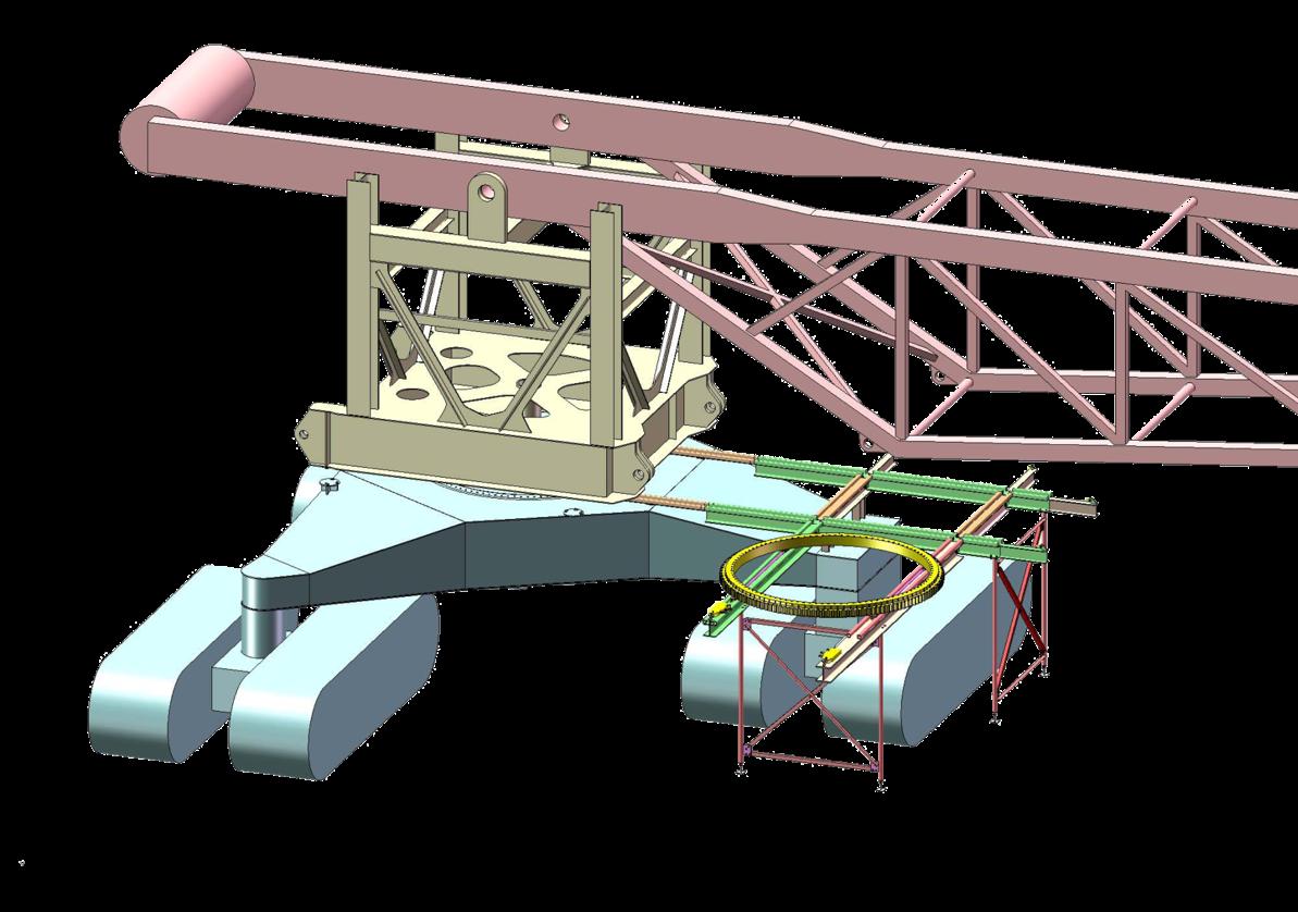 Slew bearing removal platform