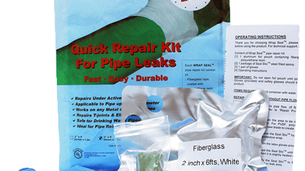 10 x Wrap Seal Quick Repair Kit for Pipe Leaks - 50 mm x 1.2 m