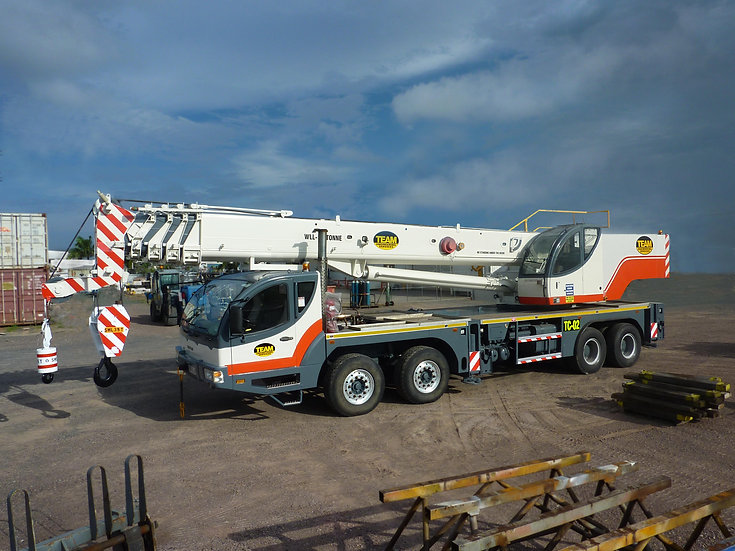 50T Hydraulic Truck Crane Hire - Dry or Wet