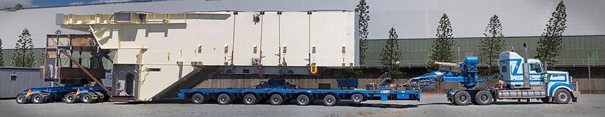 Oversize truck loaded