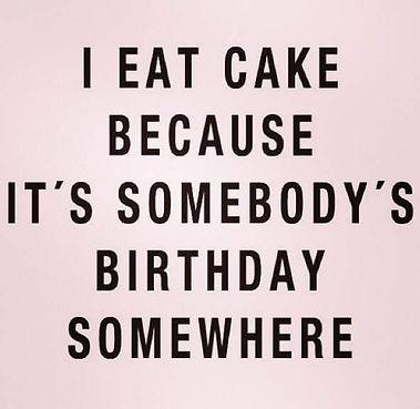 it's somebody's birthday