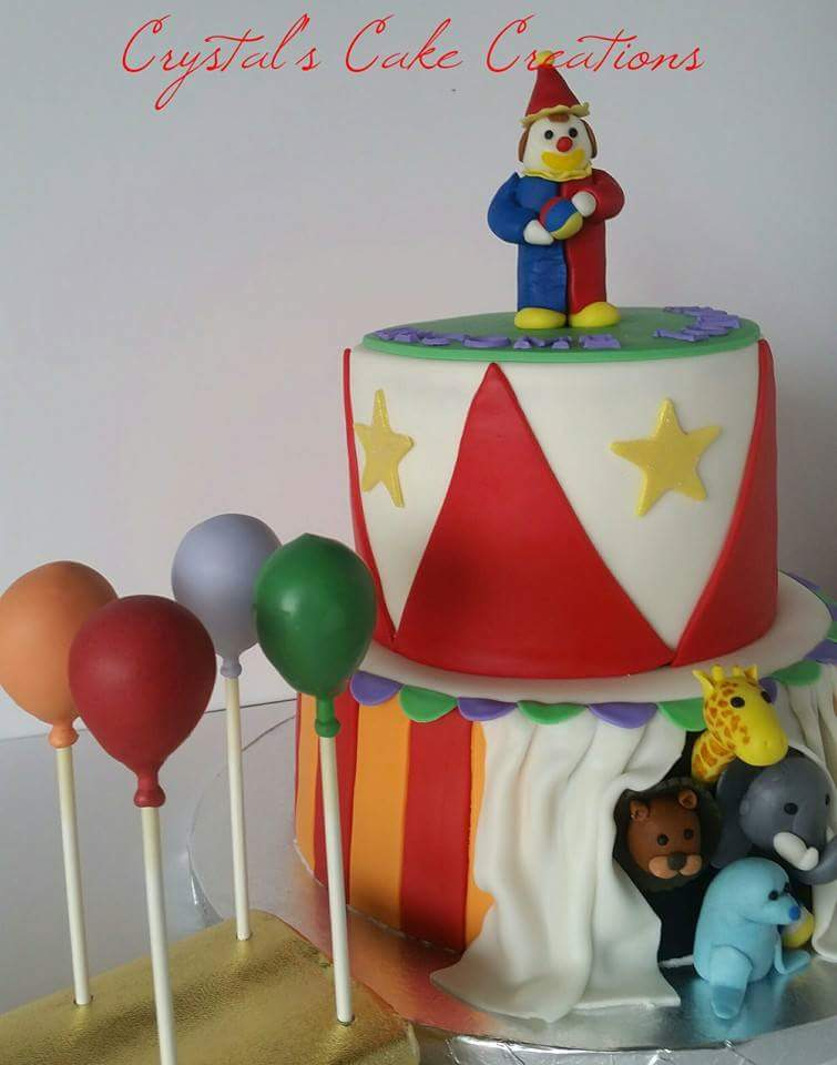 Circus Birthday and balloon cake pop